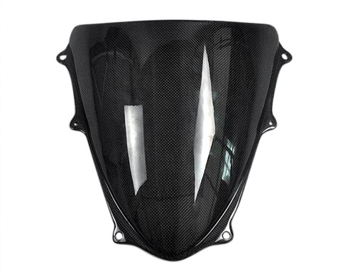 Glossy Plain Weave Carbon Fiber  Windscreen for Suzuki GSXR 600, GSXR 750  2008-2010
