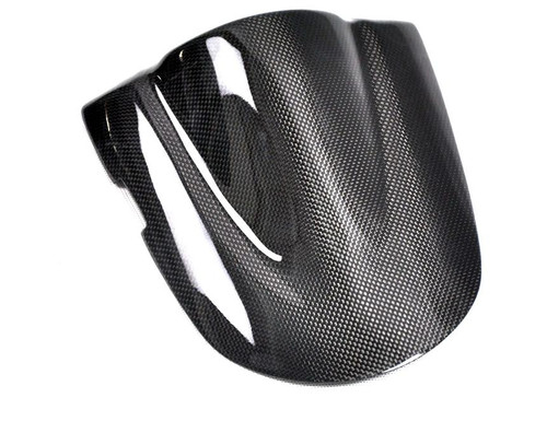 Glossy Plain Weave Carbon Fiber  Seat Cover for Suzuki  GSXR 600, GSXR 750  2006-2007