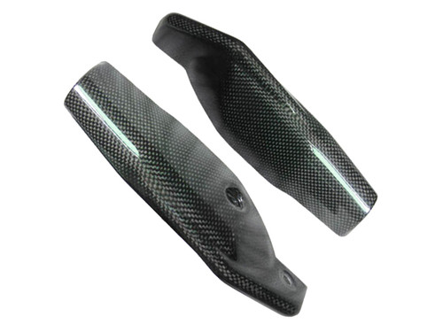 Glossy Plain Weave Carbon Fiber fork Leg Guards for Ducati Hypermotard 1100