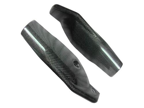 Glossy Plain Weave Carbon Fiber fork Leg Guards for Ducati Hypermotard 1100