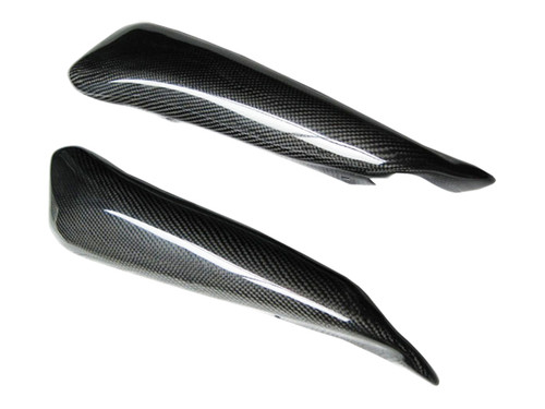 Glossy Plain Weave Carbon Fiber Side Small Fairings for Ducati Hypermotard 1100