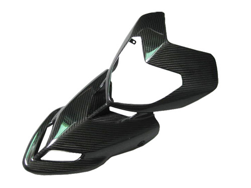 Glossy Twill Weave Carbon Fiber  Upper Fairing for Ducati Hypermotard 1100
