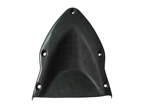 Glossy Plain Weave Carbon Fiber  shownUpper Fairing Undercover for Ducati Hypermotard 1100