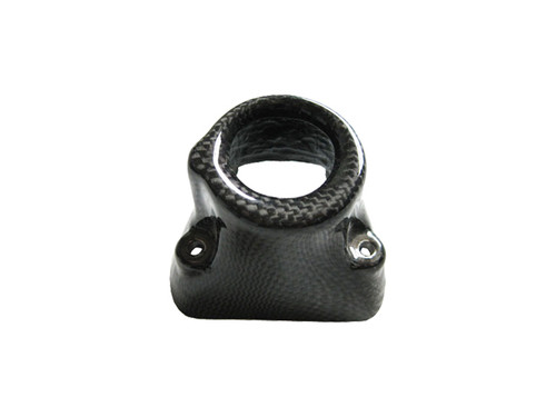 Glossy Plain Weave Carbon Fiber  Key Cover for Ducati Hypermotard 1100