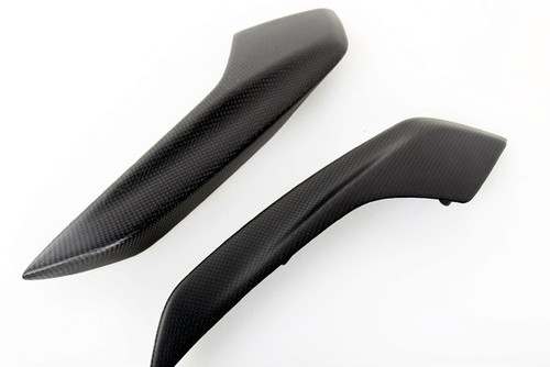 Matte Plain Weave Carbon Fiber  Rear Panels for Ducati Hyperstrada, Hypermotard 821 2013+
