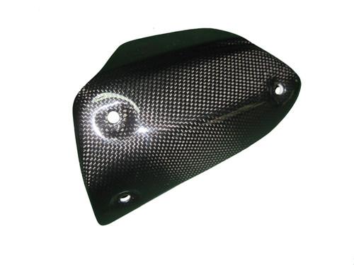 Heat Guard (b) for Ducati Hyperstrada, Hypermotard 821 2013+ in Glossy Plain Weave Carbon Fiber