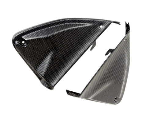 Matte Plain Weave Carbon Fiber Inner Panels for Ducati Hyperstrada, Hypermotard 821 2013+