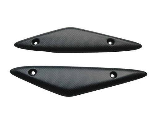 Front Body Panels in Matte Plain Weave Carbon Fiber for Ducati Hyperstrada, Hypermotard 821 2013+