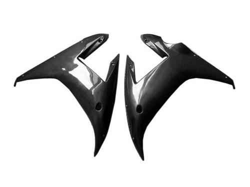 Glossy Plain Weave Carbon Fiber  Side Panels for Yamaha R1 02-03