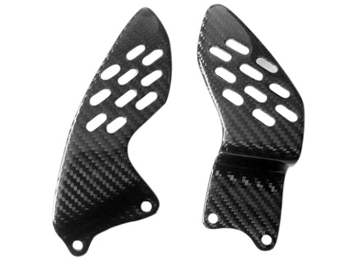 Glossy Twill Weave Carbon Fiber  Heel Guards for Yamaha R1 04-06