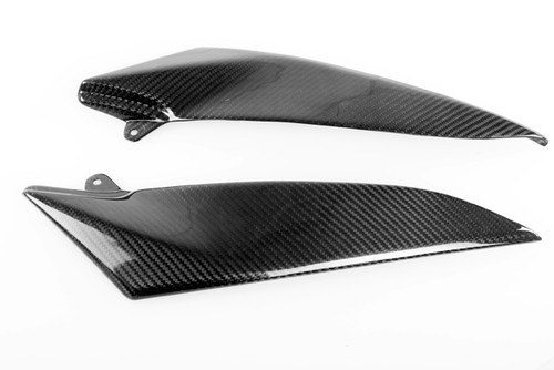 Glossy Plain Weave Carbon Fiber Under Tank Panels for Yamaha R1 04-06