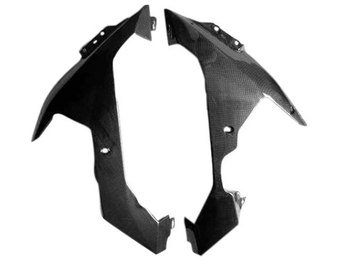 Glossy Plain Weave Carbon Fiber  Lower Side Panels for Yamaha R1 04-06