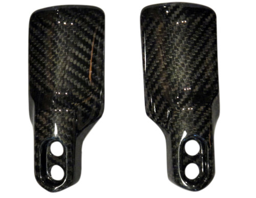 Fork Covers for Yamaha Vmax 1700 2009-2016 in Glossy Twill Weave Carbon Fiber