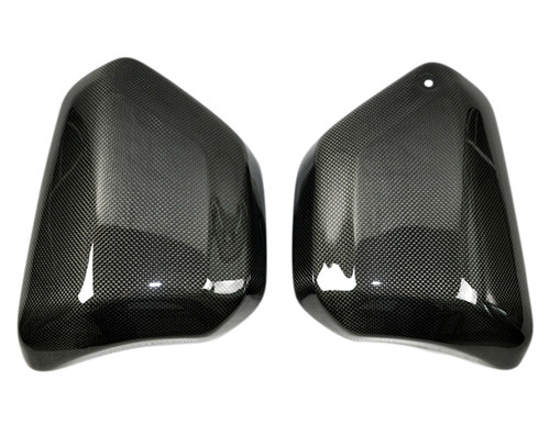 Glossy Plain Weave Carbon Fiber Side Panels for Yamaha Vmax 1700 2009-2016