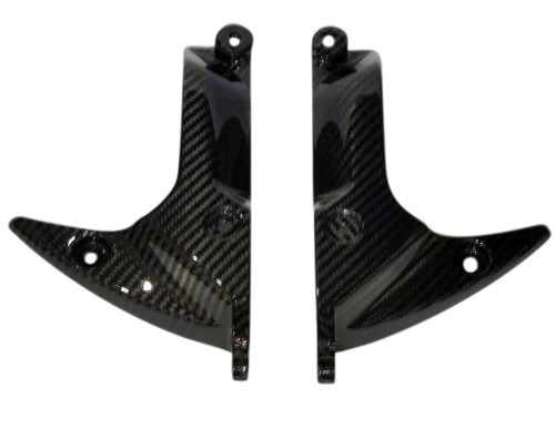 Front Fender Holders for Yamaha Vmax 1700 2009-2016 in Glossy Twill Weave Carbon Fiber