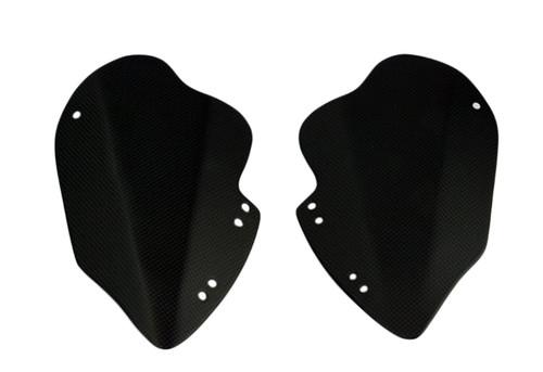 Knee Plates in Matte Plain Weave Carbon Fiber for Yamaha Vmax 1200 1985-2007