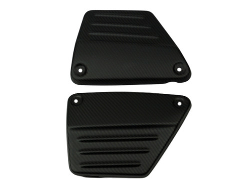 Side Panels (2) in Matte Twill Weave Carbon Fiber for Yamaha Vmax 1200 1985-2007