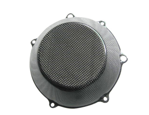 Glossy Plain Weave Carbon Fiber  Clutch Cover for all Ducati with Dry Clutches (style 1)