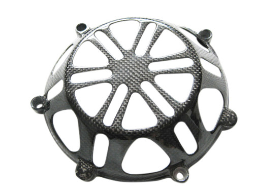 Glossy Plain Weave Carbon Fiber  Clutch Cover for all Ducati with Dry Clutches (style 4)