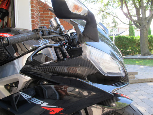 Carbon Fiber Front Fairing for Aprilia RSV4 2009+ installed