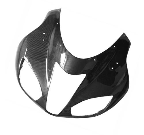 Glossy Plain Weave Carbon Fiber  Front Fairing for Kawasaki ZX6R 07-08