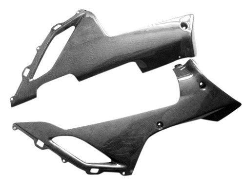 Glossy Plain Weave Carbon Fiber  Belly Pan for Kawasaki ZX6R 07-08