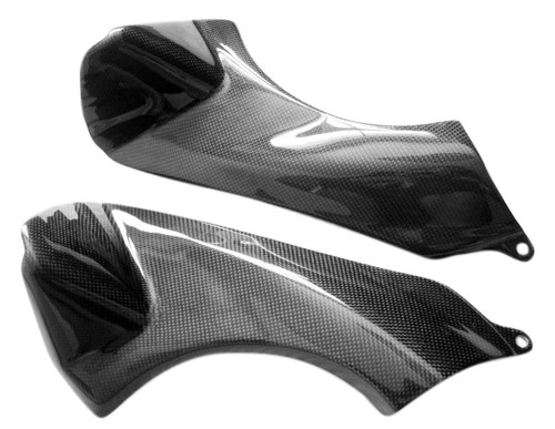 Glossy Plain Weave Carbon Fiber  Air Duct Covers for Kawasaki ZX6R 07-08