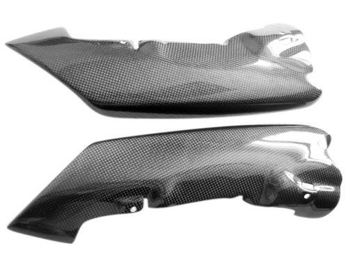Glossy Plain Weave Carbon Fiber  Tail Fairings for Kawasaki ZX6R 07-08