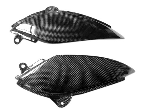 Glossy Plain Weave Carbon Fiber  Lower Tank Trim for Kawasaki ZX6R 05-06