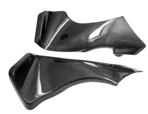 Glossy Plain Weave Carbon Fiber  Ram Air Covers for Kawasaki ZX6R 05-06