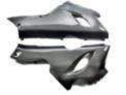 Lower Fairing for Kawasaki ZX6R 05-06 in Glossy Plain Weave Carbon Fiber