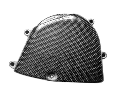 Glossy Plain Weave Carbon Fiber  Sprocket  Cover for Kawasaki ZX6R 05-06