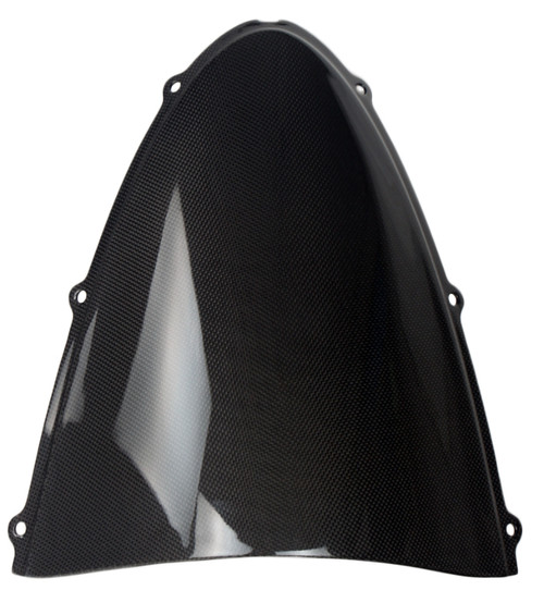 Windshield for Kawasaki ZX6R 05-06 in Glossy Plain Weave Carbon Fiber