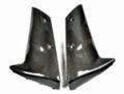 Front Fender Sides for Kawasaki ZX6R 05-06 in Glossy Plain Weave Carbon Fiber