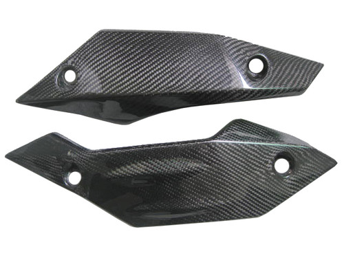 Glossy Plain Weave Carbon Fiber  Lower Fairings for Kawasaki Z1000 07-09