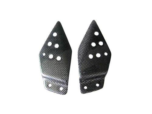 Glossy Plain Weave Carbon Fiber  Heel Guards for Kawasaki Z1000 07-09, Z750 07-11