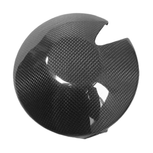 Clutch Cover (Add Kevlarside) for Triumph Daytona 675 06-12, Street Triple 07-12 in Glossy Plain Weave Carbon Fiber