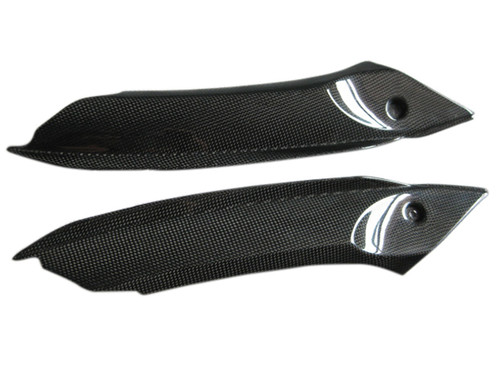 Cockpitfill Panels for Triumph Daytona 675 06-08 in Glossy Plain Weave Carbon Fiber