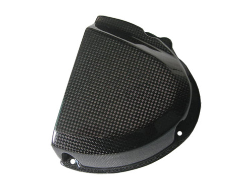 Front Sprocket Cover for Triumph Speed Triple 1050 2011-2015 in Glossy Plain Weave Carbon Fiber