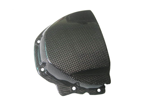 Sprocket Cover for Triumph Triumph Speed Triple 05-10, Sprint ST, GT 1050 05- 11, Tiger 1050 in Glossy Plain Weave Carbon Fiber