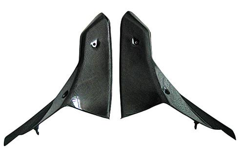 Inner fairing Panels (2) for Triumph Sprint St  05-09 in Glossy Plain Weave Carbon Fiber