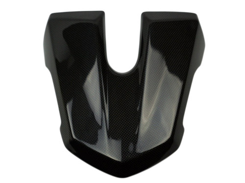 Seat Cowl in Glossy Plain Weave Carbon Fiber for Triumph Street Triple 2013+