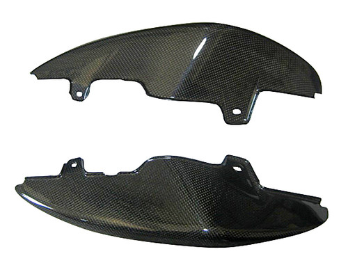 Tail Cowl Side Panels (a) for Triumph Speed Triple 1050 2011+ in Glossy Plain Weave Carbon Fiber