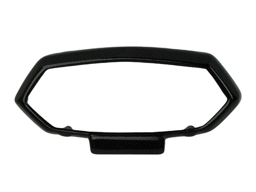 Instrument Surround in Glossy Twill Weave Shown for Kawasaki Z1000 2010-2013.