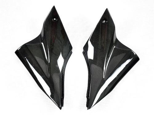 Side Panels (B) in Glossy Plain Weave Carbon Fiber for Kawasaki ZX10R 2006-2007