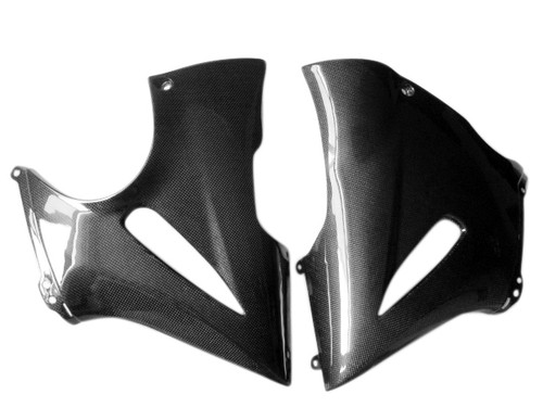 Glossy Plain Weave Carbon Fiber Belly Pan for Kawasaki ER-6F- Ninja 650R, 2006-2011