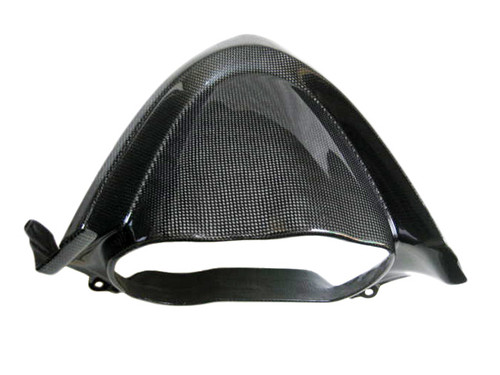 Glossy Plain Weave Carbon Fiber Cockpit Cover for Kawasaki ER-6F  2006-2008