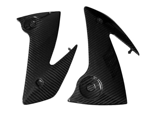Glossy Twill Weave Carbon Fiber Frame Covers for Kawasaki ER-6 (F,N) - Ninja 650R, 2006-2008