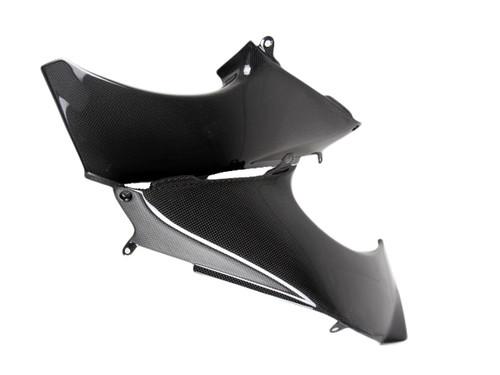Glossy Plain Weave Carbon Fiber Dash Panels for Kawasaki ZX12R 00-01