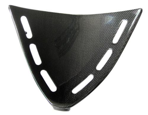 Glossy Plain Weave Carbon Fiber Triangle Fairing for Kawasaki ZX12R 02-06